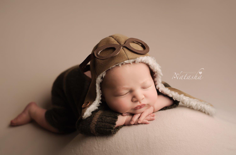 Image of Newborn Aviator Hat