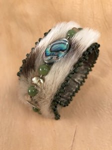 Image of Sealskin, Abalone, Jade, Gold Pearl