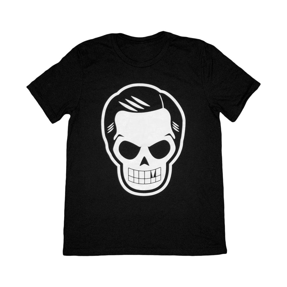 Image of Skull Logo Tee in Black/White