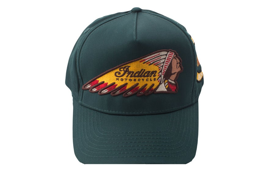 Image of Hunter Green Chief Trucker Hat