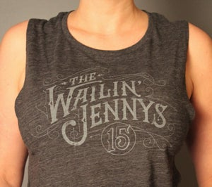 Image of Women's Tank Top - The Wailin' Jennys - '15' Victorian Logo