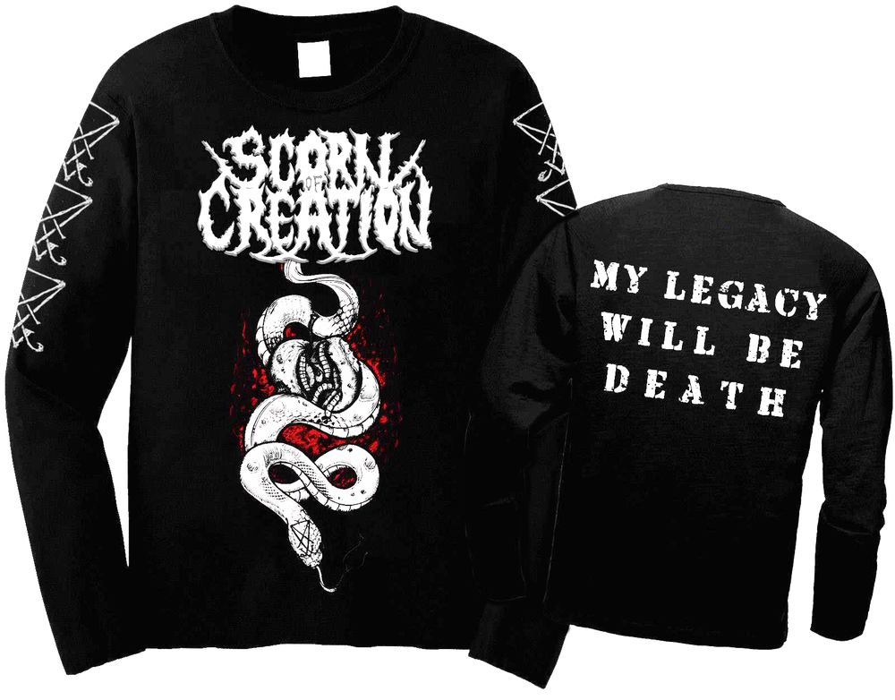 Image of Scorn of Creation - Serpent Black Longsleeve