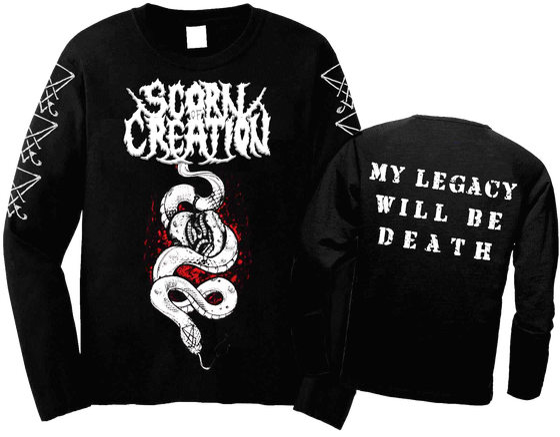 Image of Scorn of Creation - Serpent Black Longsleeve