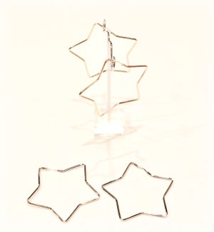 Image of 925 maxi stars earrings
