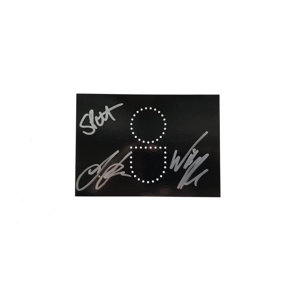 Image of Signed OU Postcard, Simon Patterson, John Askew & Will Atkinson