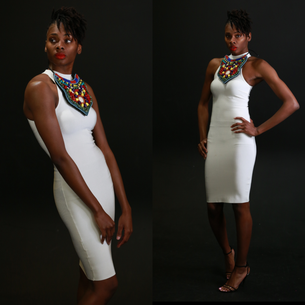 Image of White bodycon dress