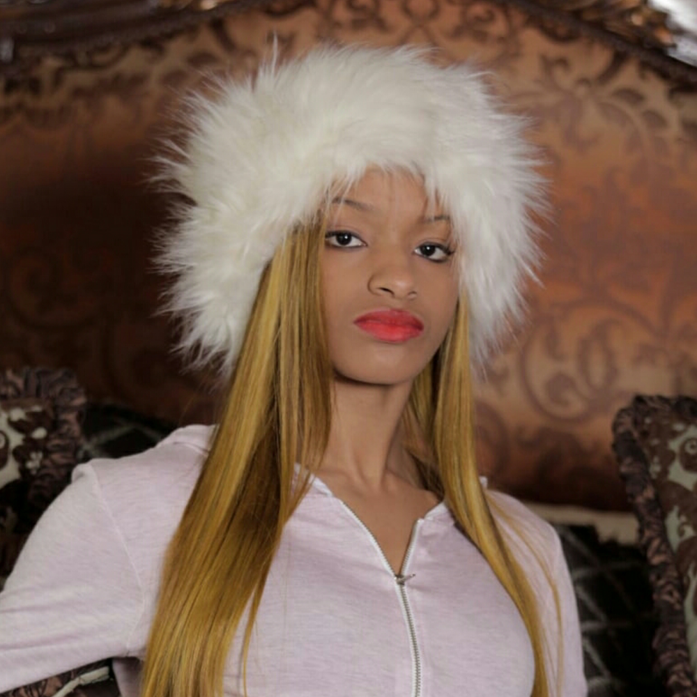 Image of Faux fur head band