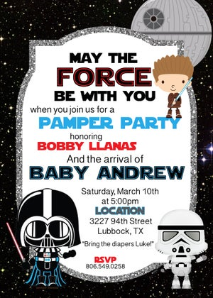 Image of Star Wars Baby Shower