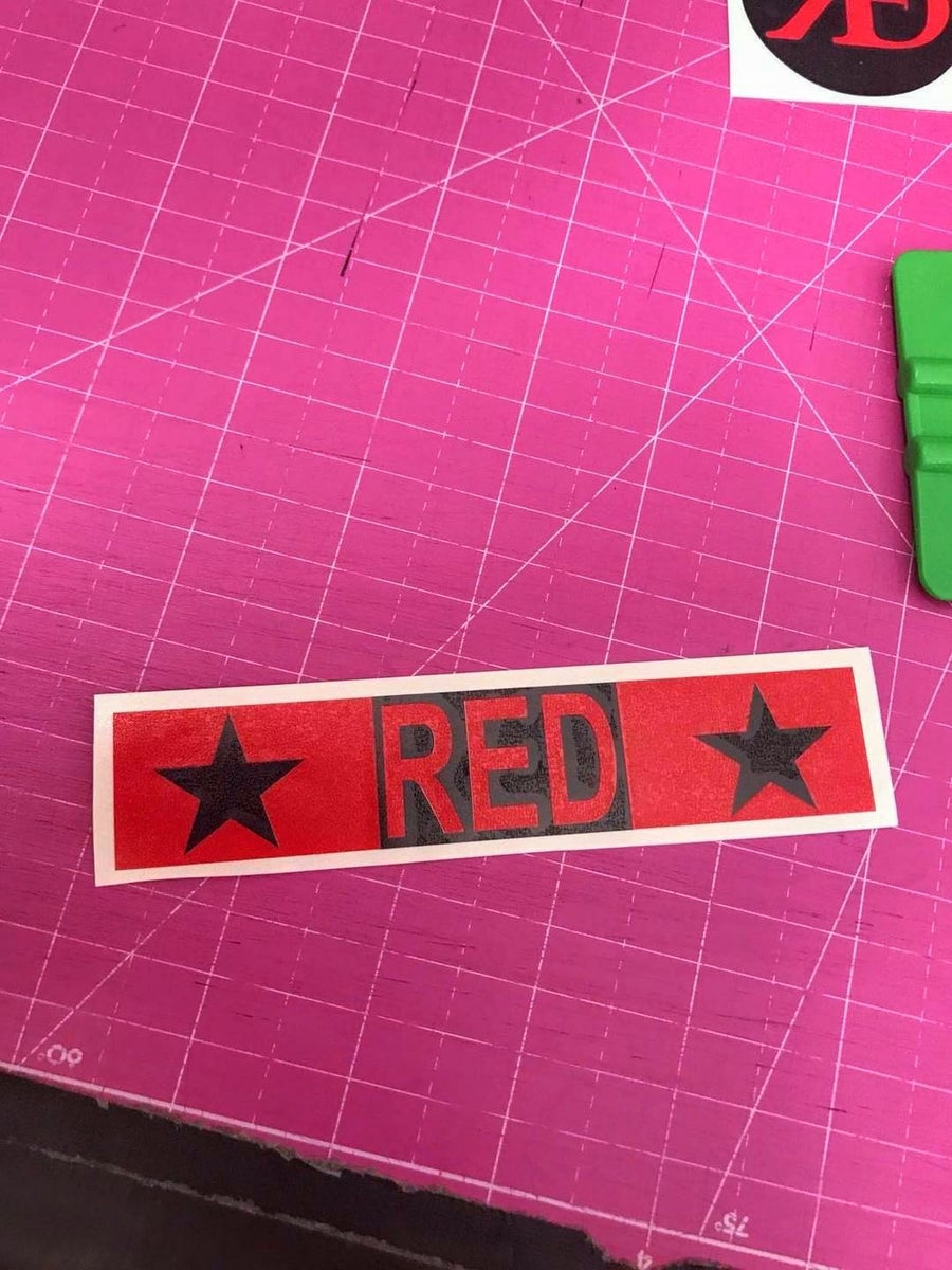 Image of R.E.D. Ribbon & R.E.D. Logo Decal