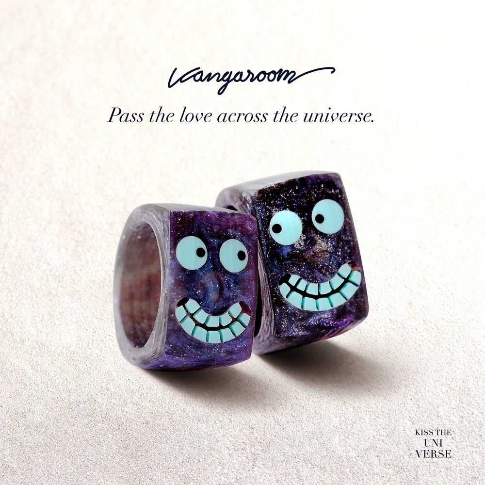 Image of Kiss the universe - the couple rings.