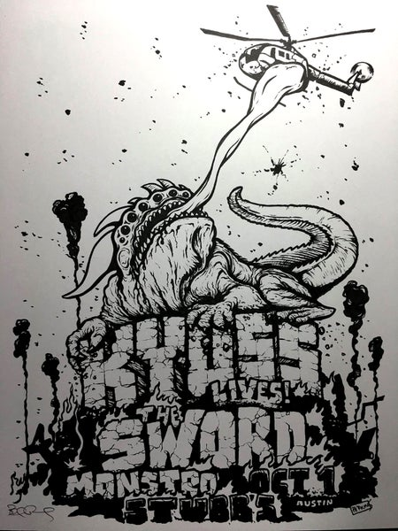 Image of ORIGINAL INK - Kyuss, The Sword