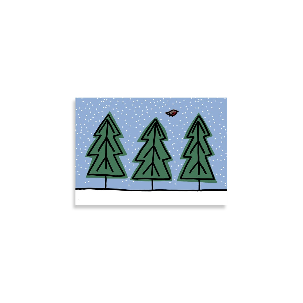 Image of Trees Christmas Card