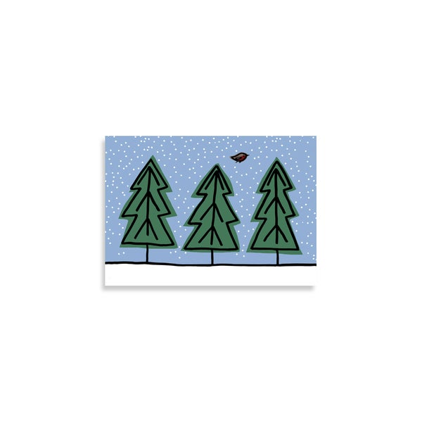 Image of Trees Christmas Card