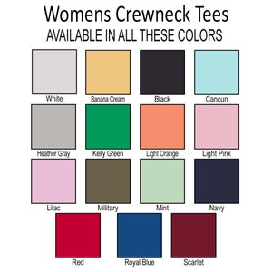 Image of Wholesale - 1 Dozen - always late - Women's Crew Neck Shirt