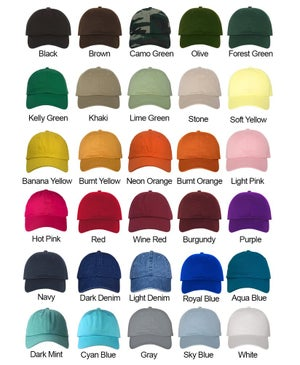 Image of Wholesale - One Dozen - Cali Bear Colored Baseball Hat