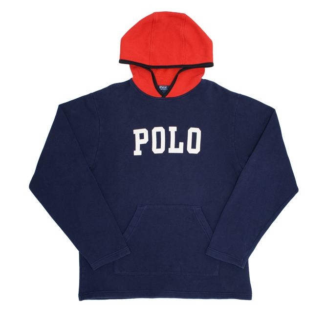 Image of Polo Ralph Lauren Vintage Hoodie Polo Spell Out Size L