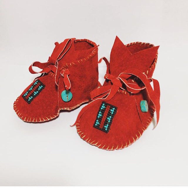 Image of LITTLE POLLYWOGS- handmade baby moccasins