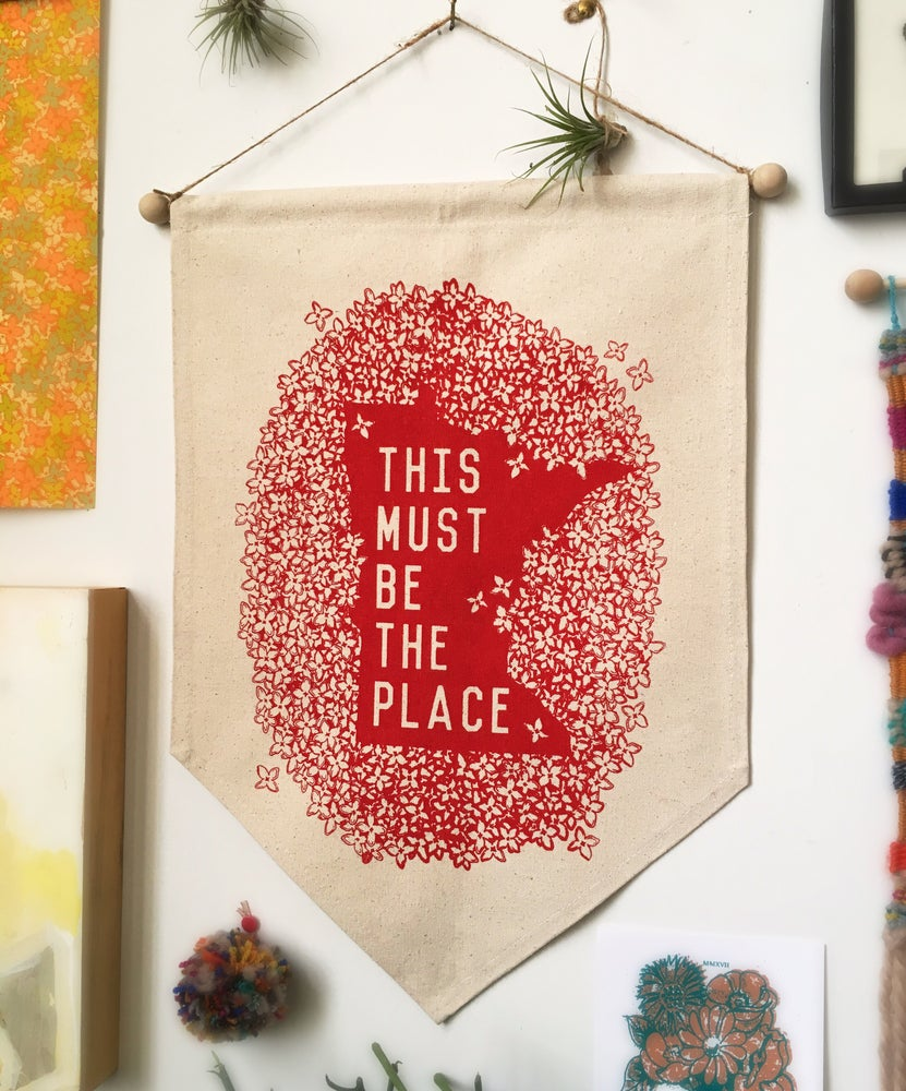 Image of Minnesota Must be the Place-Wall Banner
