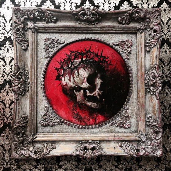 Image of 'LAMB OF GOD' [ UNIQUE PRINT - { 1/1 } ] HAND EMBELLISHED MUSEUM ARCHIVAL PRINT W/ MIXED MEDIA