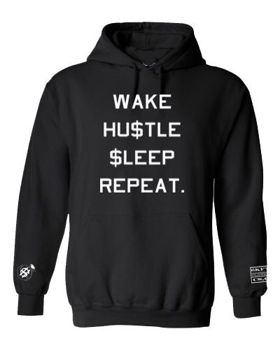 Image of Wake Hustle Sleep Repeat Hoodie 6KFTB