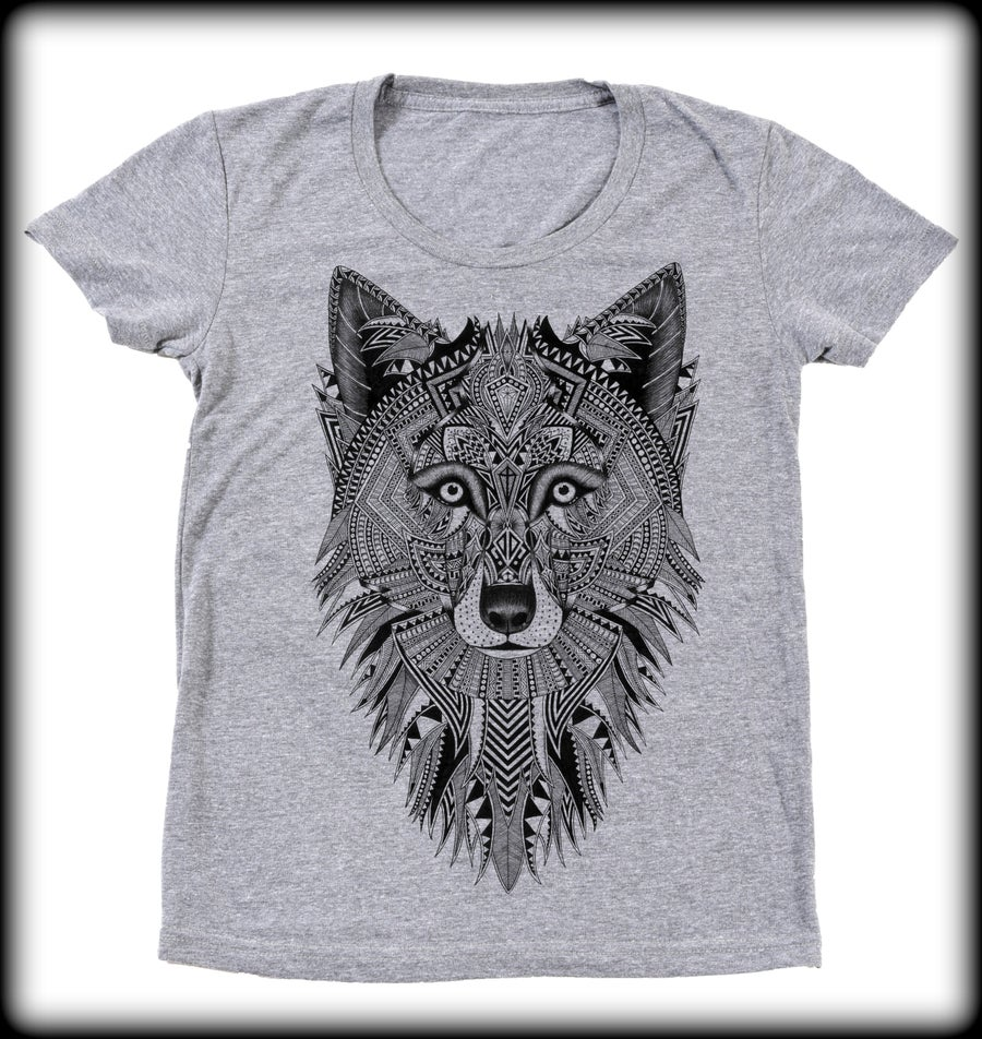Image of Ladies Grey Wolf Tee