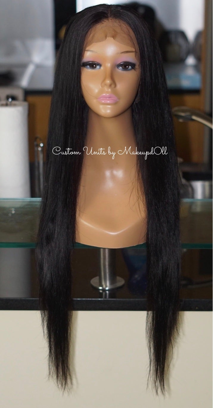 "Image of Peruvian Straight 26"" Custom Lace Frontal Wig!"