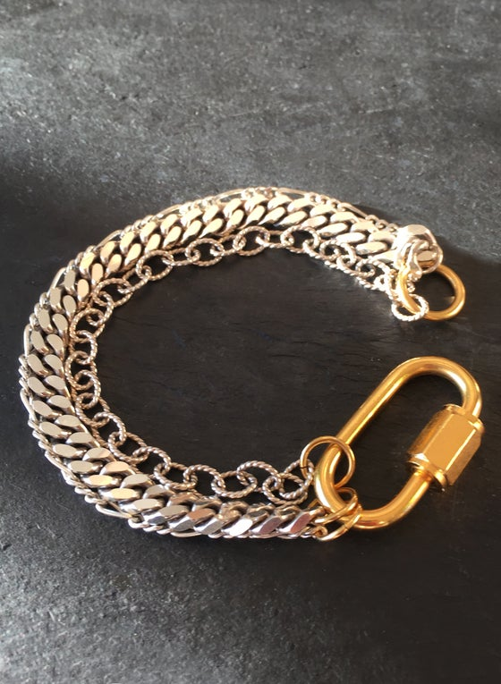 Image of BOUND BRACELET - triple chain