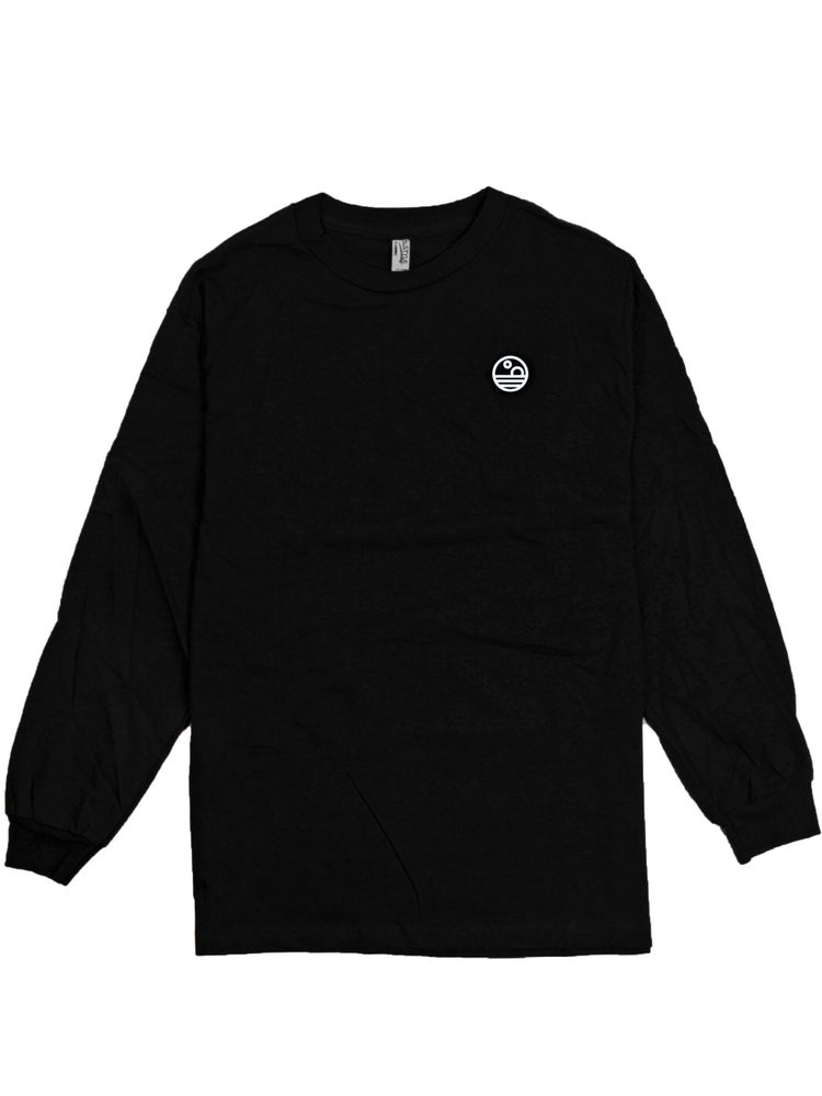 Image of Binary Sunset Logo Long Sleeve (Black/Grey)