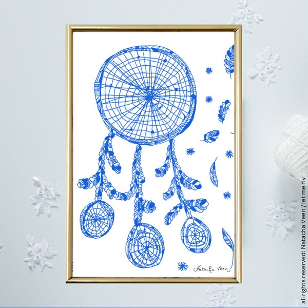 Image of Blue *Dreamcatcher*_A6