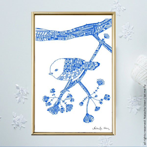 Image of Blue *mini-bird*_A6