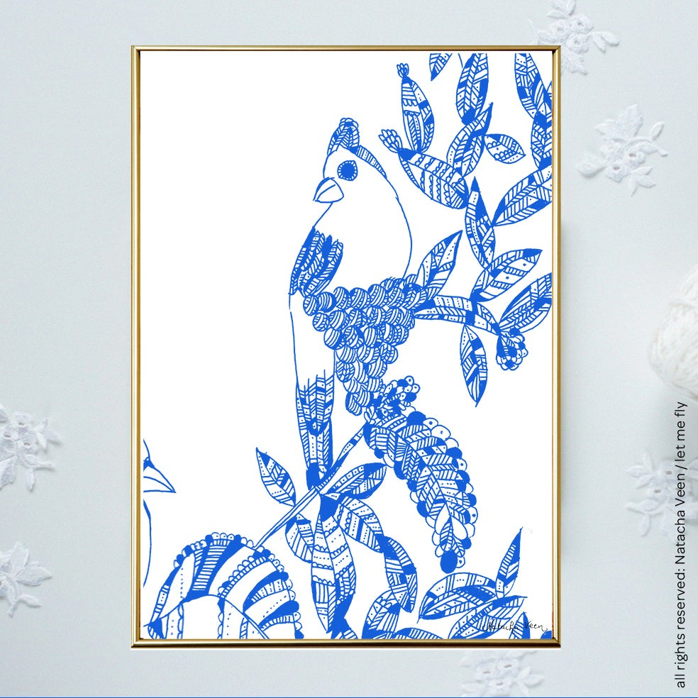 Image of Blue *Summer Bird*_A6