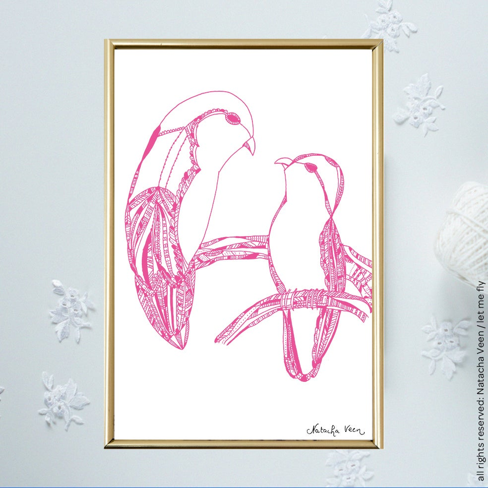 Image of Pink *Lovebirds*_A6