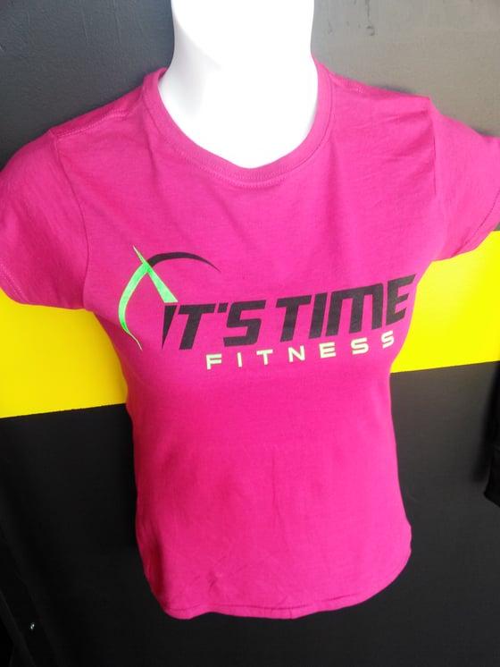 Image of ITF Pink Logo Tee