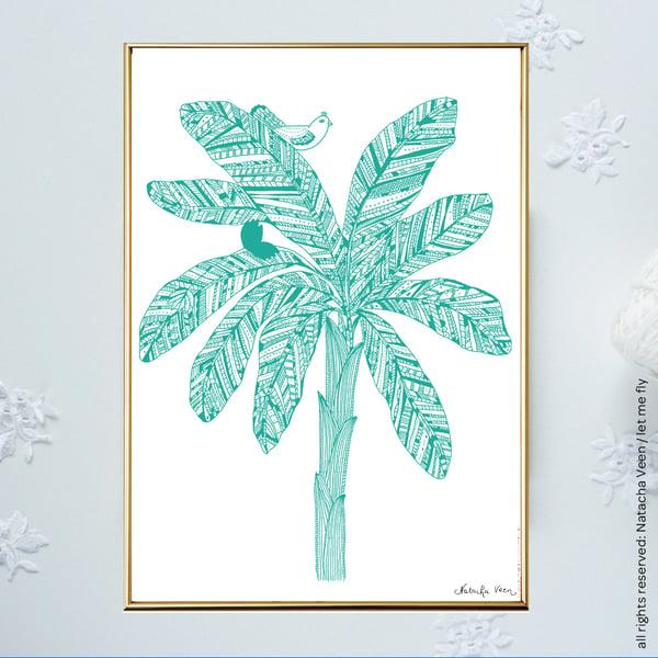 Image of Green *Banana Tree*_A4