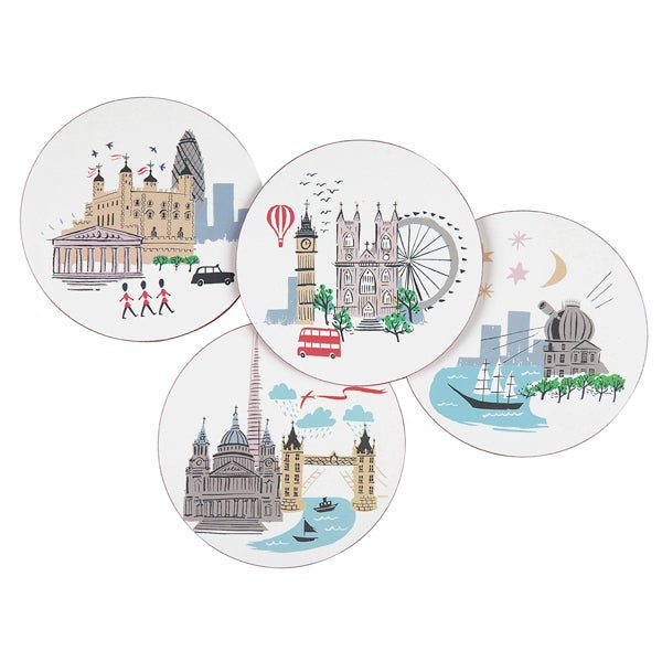 Alice Tait London Landmark Coaster Set of 4 - Alice Tait Shop