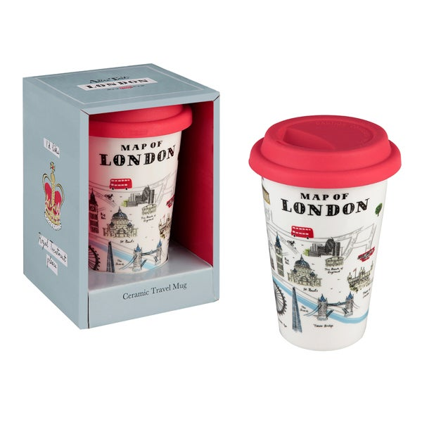 Alice Tait Map of London Travel Mug - Alice Tait Shop