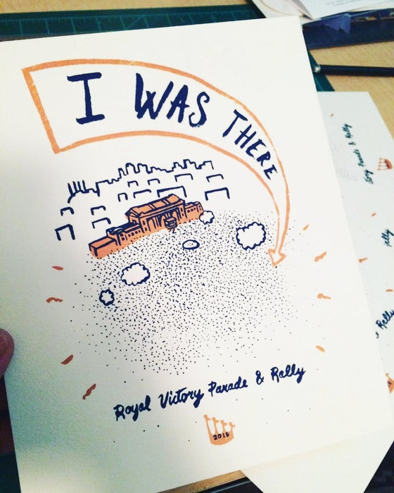 "Image of ""I Was There"" print"