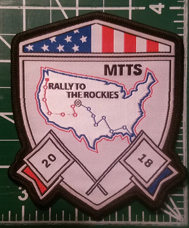 "Image of MTTS 2018 SHIELD PATCH 4"" X 3.25"""
