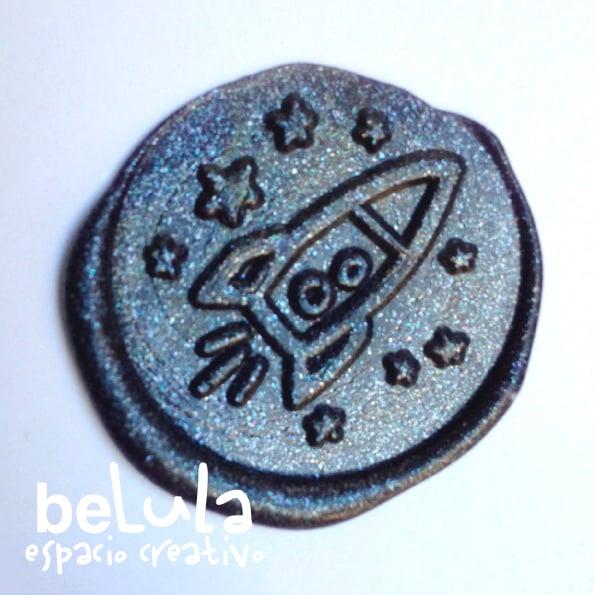 Image of Sello de lacre: nave espacial