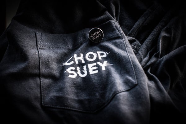 Image of Chop Suey Pocket T and Enamel Pin