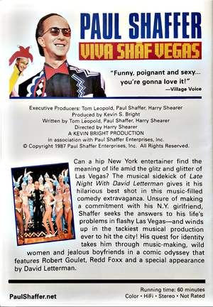 Image of Viva Shaf Vegas DVD - SIGNED BY PAUL SHAFFER