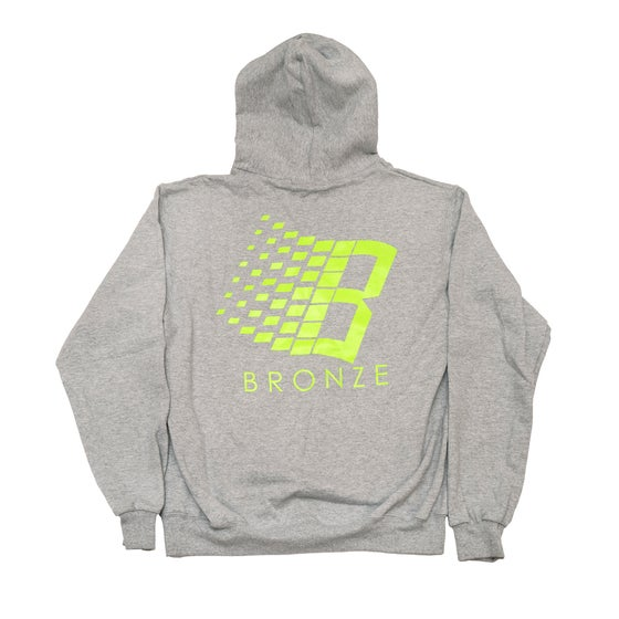 Image of B Hoody Heather Grey/Lime