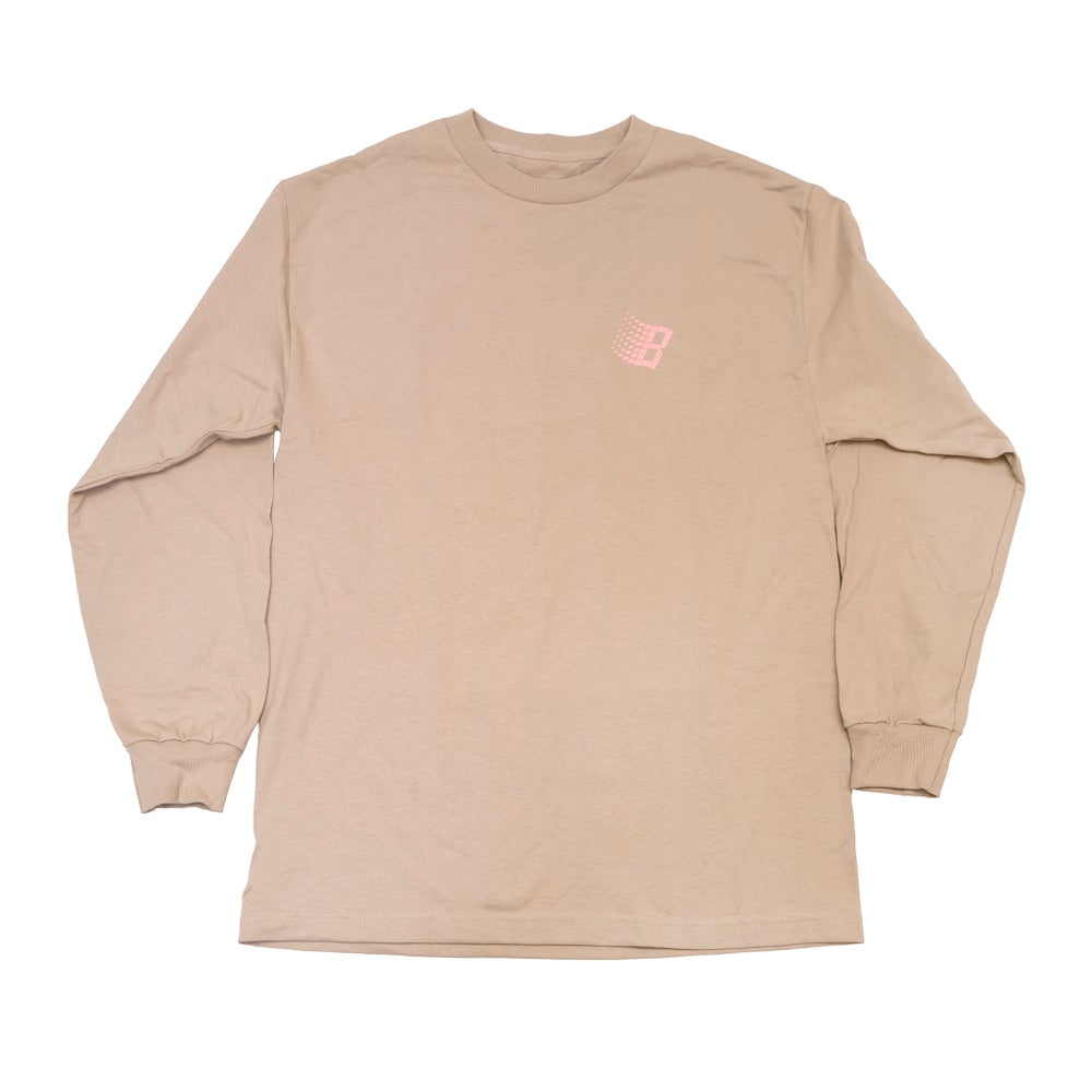 Image of B Longsleeve Shirt Sand/Pink