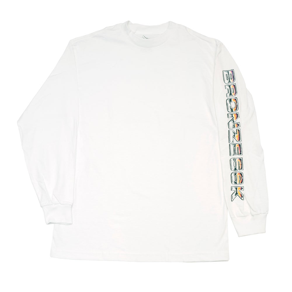 Image of Shoulder Lean Longsleeve White
