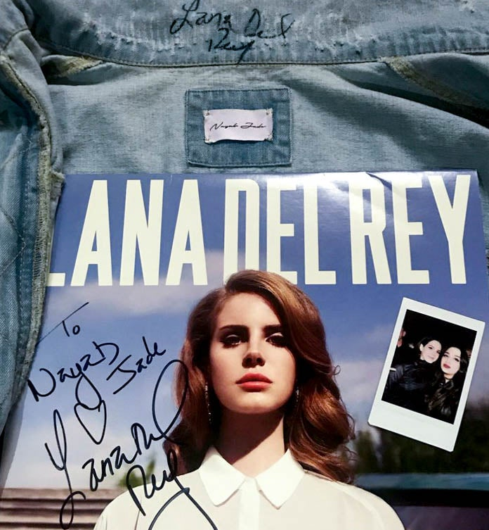Image of Lana Del Rey Signed Custom Vintage Beaded Jacket