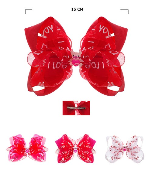 Image of I love you Valentines Hair Bows