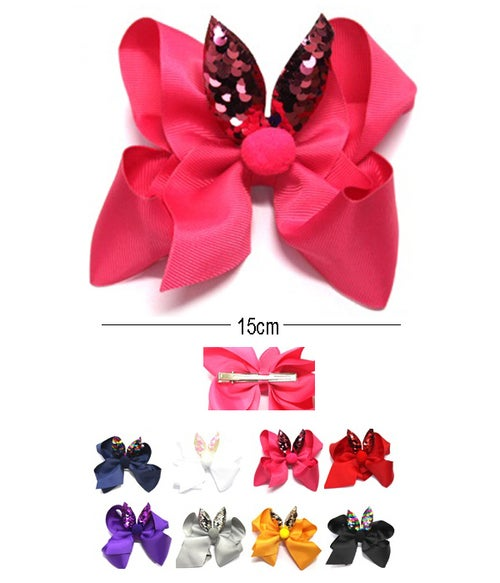 Image of Hair Bow Pin HC-24745K Assorted Color