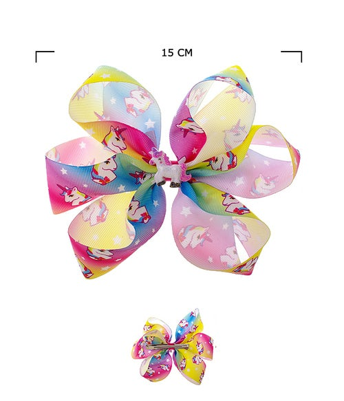 Image of Unicorn Hair Bow Pin Assorted Color
