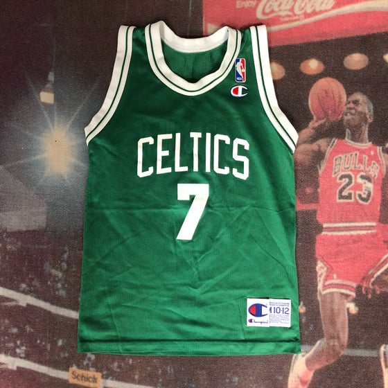 Image of Vintage Champion Boston Celtics Dee Brown Jersey Youth Size Medium
