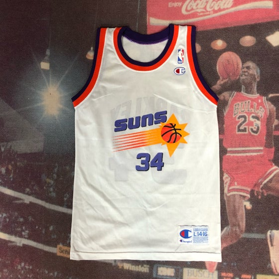 Image of Vintage Champion Phoenix Suns Charles Barkley Jersey Youth Size Large
